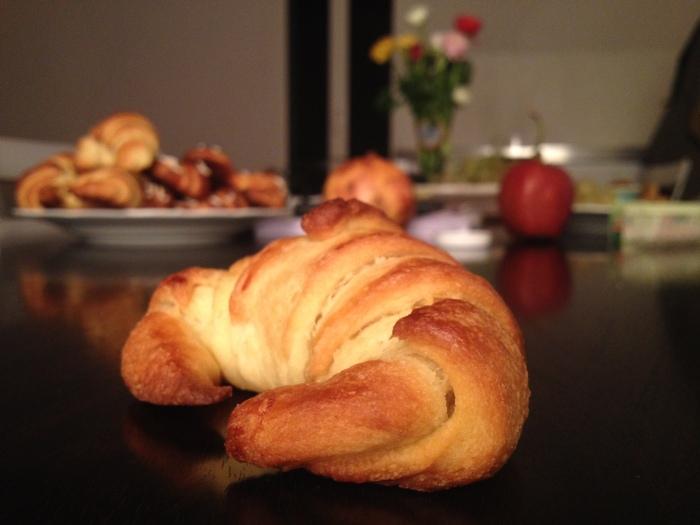 homemade croissant